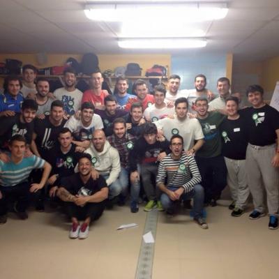 foto con taller del año pasado tribu del Berrón CF 2015